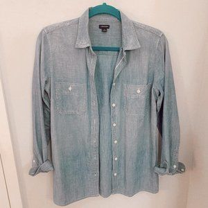 j crew button down jean shirt